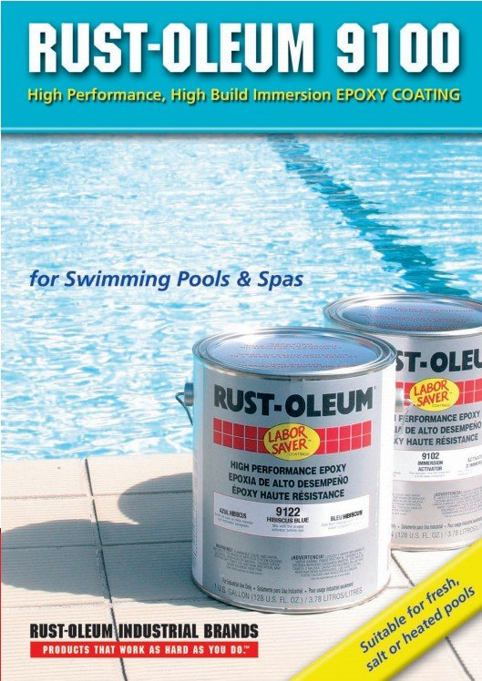 Rust Oleum 9100 Swimming Pool Paint And Waterproofing
